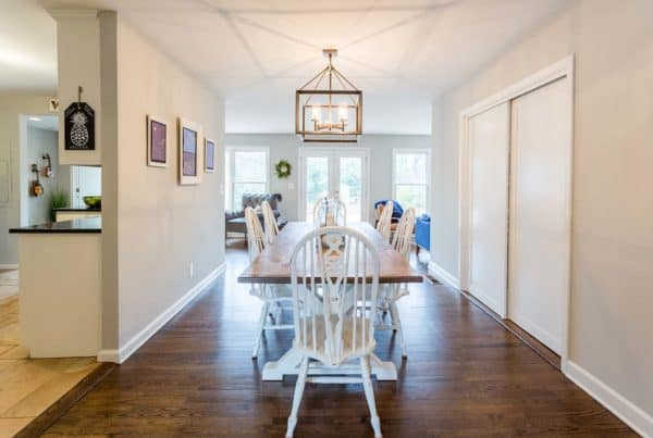 New dining space in this remodeled home.