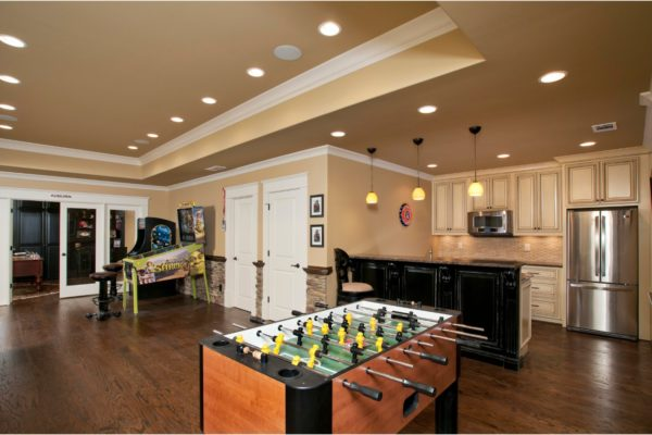 game room to kitchen