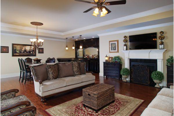 living room to bar