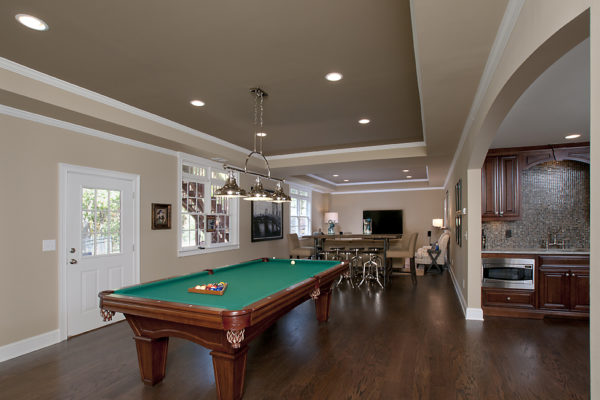 pool table to TV