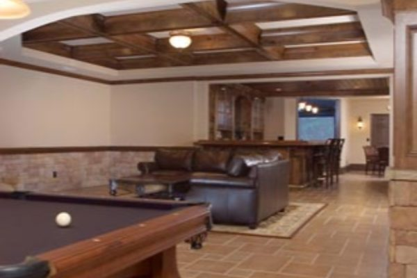 pool table to theatre room-12