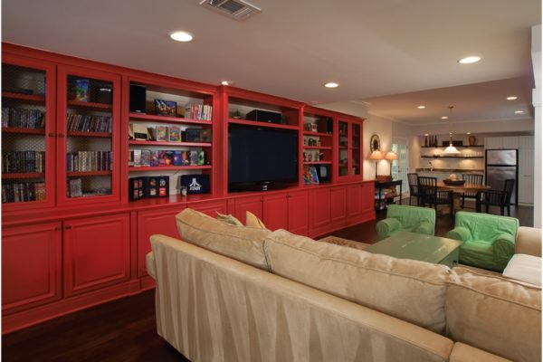 red-bookcase-to-kitchen