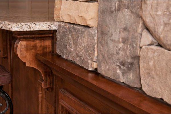 stone-wood-granite corner