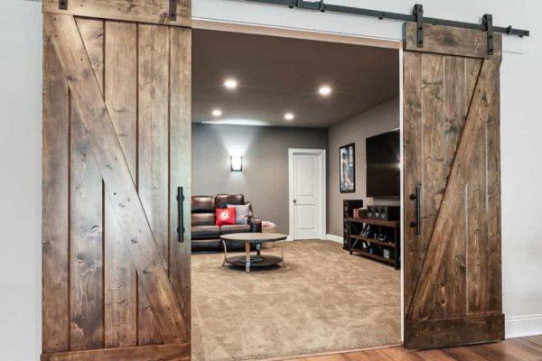 custom double sliding barn doors