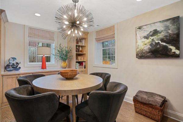 Space for entertaining in this basement project.