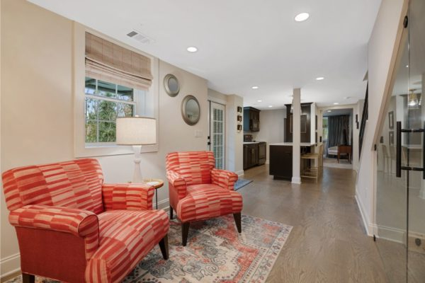 Open concept design in this newly finished basement.
