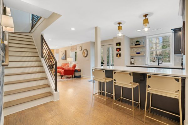 Basement designed with open concept.