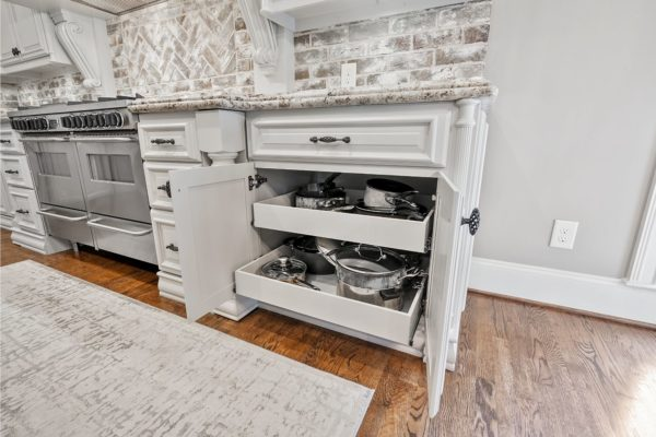 custom cabinets with pullout shelves