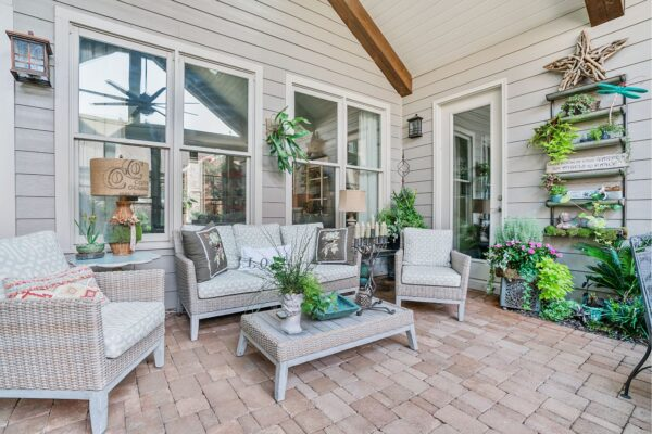 New screened porch additon creates the perfect space to relax.