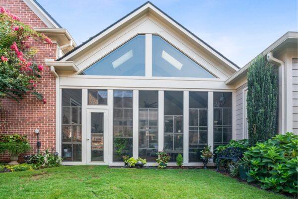 Screened porch addition in Canton, GA.