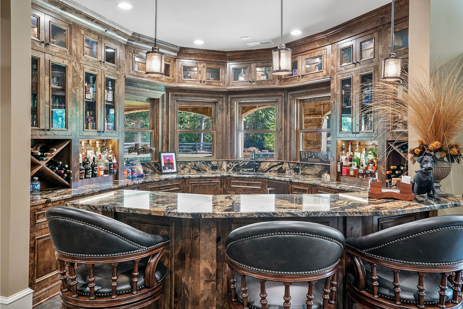 custom bar cabinets with inset doors
