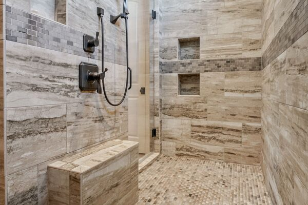 large double entry shower