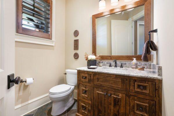 framed vanity mirror
