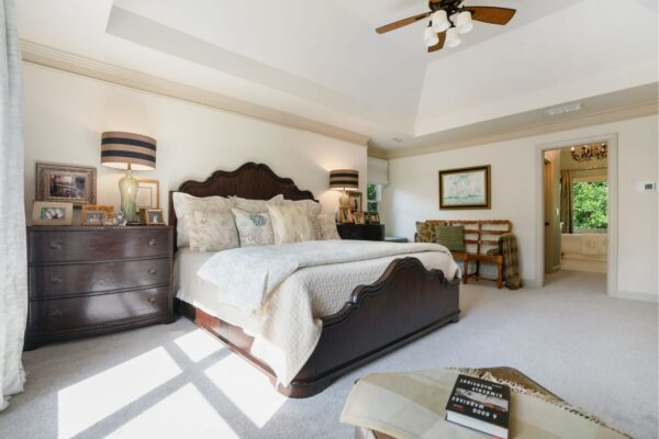 Spacious, second story master suite.