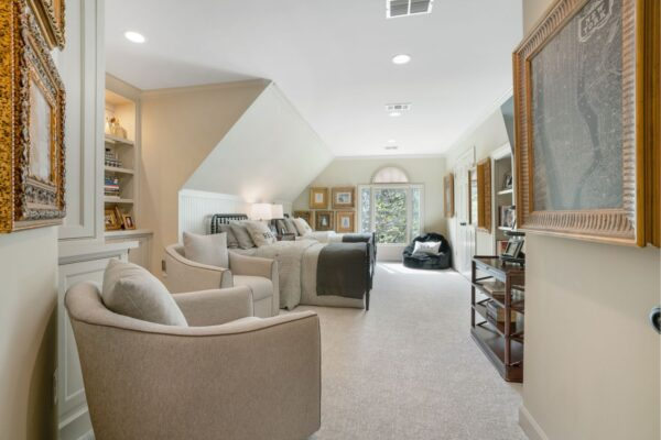 This was originally a bonus space that has been re-purposed into an additional bedroom space.